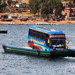 Fahrt mit der Fähre Richtung La Paz