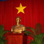 Abbild von Ho-Chi-Minh in der Wiedervereinigungshalle (Nord- und Südvietnam). An diesem Ort durchbrachen 1975 die Panzer der Kommunisten (Südvietnam) das Tor, an dem Tag, als sich Saigon ergab.