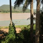 Ein Fluss mündet in den Mekong