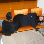 Langes warten am Flughafen von Rio Gallegos, 12 Std.!!!