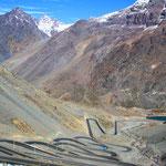 Unsere Passüberquerung von Chile nach Argentinien.