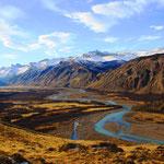 Wunderschöner Panoramblick auf ein Tal