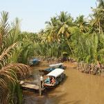 Im Delta. Der Mekong fliesst von seiner Quelle in Tibet bis in den Süden Vietnams.