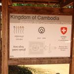 Auch wir Schweizer sind am Wiederaufbau von Angkor beteiligt! :)