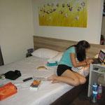 Unsere schöne, aber nicht so billige Unterkunft in Singapur