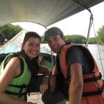 Auf dem Longtailboot durch die Mangrovenwälder im Phang Nga Park