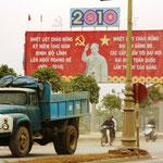 Die typischen staubigen Strassen in Vietnam
