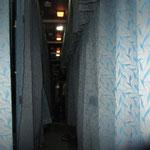 Der Gang im Zug, Schlafabteile.