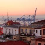Blick von unserem Fenster zum Hafen