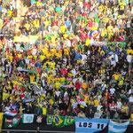 Viertelfinalspiel der Copa America Brasilien gegen Paraguay im Stadion in La Plata