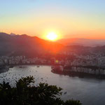 Sonnenuntergang über Rio