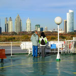 Die Fahrt dauert 3 Stunden bis nach Colonia del Sacramento in Uruguay