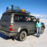 Salar de Uyuni - Der Salar de Uyuni (auch Salar de Tunupa) ist mit mehr als 10.000 km² der größte Salzsee der Welt.