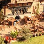 Unser schöner Garten in unserem Hotel in Kathmandu