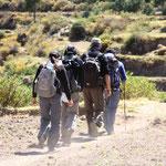 Auf dem Weg zur Oase im Canyon