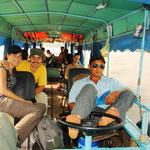 Mit dem Boot gehts nun von Chau Doc (Vietnam) nach Phnom Penh, der Hauptstadt Kambodschas.