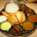 Südindisches Thali