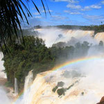 Als wir da waren, führte der Rio Iguazu so viel Wasser, das leider einige Aussichtsplatformen gesperrt waren.