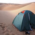 Unser Zeltlager in den Dünen