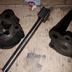 Die Pumpe ist tadellos, diese Stahlpumpen sind selten verschlissen, im Gegensatz zu den späteren Alupumpen