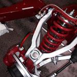 Die Bremse angefangen, die Sättel wurden auch gepulvert und überholt, es kommen Spiegler Stahlflexbremsschläuche zum Einsatz, diese gibts auf Wunsch farbig