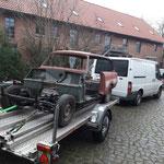 Im Januar: Wir holen das Auto in Niedersachsen ab