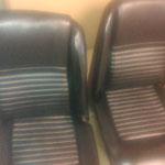 Die Sitze werden aufgearbeitet