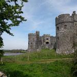 Die alte Burg ist beeindruckend...