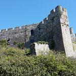 ...und finden Manorbier Castle, das heisst wirklich so....