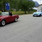 Ausgeladen werden diese zwei Holländer mit ihren alten Datsun....die Oldtimerdichte ist in Norwegen nicht besonders groß