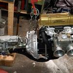 dann wird das Getriebe an den Motor geflanscht....