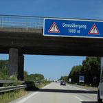 an Flensburg vorbei nach Dänemark