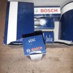 Es werden wieder die seit Jahrzehnten in meinen Triumphs bewährten Bosch Kerzen verwendet, in diesem Fall W5AC, diese sind deutlich kälter als standard um den Temperaturhaushalt im Griff zu haben und Glühzündungen zu vermeiden