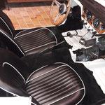 der Teppich teilweise und die Sitze