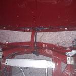 und der Kabelbaum der Haube noch angefertigt, es wurde ein Zentralstecker eingebaut