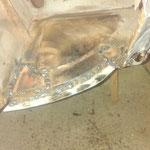 repariert, das Ablaufloch muss noch gebohrt werden, dann wird verschliffen