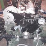Dann wird der Lader zum ersten mal an den neuen Motor gehängt