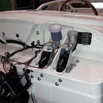 Und die Hydraulikzylinder, seit heute bremst und kuppelt er wieder