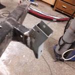 Alles soweit fertig, der Rahmen kann zum strahlen und pulverbeschichten