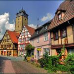 durch das wunderbare Spessartstädtchen Lohr ( um das Autobahnchaos Würzburg zu umgehen)