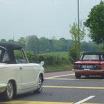 .....und diesen TR6, die könnens nicht glauben, dass ein Spiti aus Deutschland in Irland rumfährt !