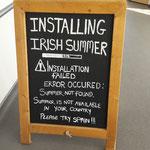 Bevor es Richtung Heimat geht, eine kleine Anmerkung zum irischen Sommer :-)