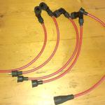 Neue Zündkabel sind angefertigt, wir fertigen Kabel nach Mass aus BERU-Silikonkabel mit Kupferkern und vernünftigen Markensteckern, wasserdicht