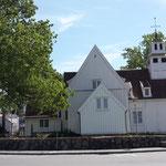 Typische Stabkirche in Flekkefjord