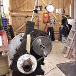 die Kettenräder / Steuerkette und Spanner werden ersetzt, das große Rad war ziemlich hinüber, deshalb wird auch das kleine nebst Kette ersetzt, anschliessend die Steuerzeiten eingestellt
