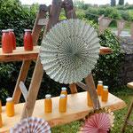 fruchtbar mobil -Sektempfang