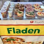 fruchtbar mobil-Bagel, Obstsalat, Quark, Fladen