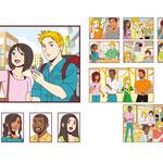 英語教材に使用のイラストを制作させて頂きました。I made illustrations for English teaching materials.