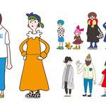 神戸市が運営する「date.KOBE」内で掲載されている「Koiobi」に登場するキャラクターを作成させて頂きました。