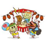 福崎町役場地域振興課様よりご依頼頂き、第43回 福崎夏まつりのチラシ用にイラストを制作致しました。We received a request from the Fukusaki Town Office Regional Promotion Division and created an illustration for the flyer of the 43rd Fukusaki Summer Festival.